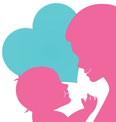 Mom with baby for Mothers day card vector image vector image