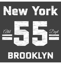 t-shirt New York vector image vector image
