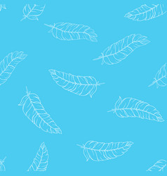 hand drawn feathers pattern vector image