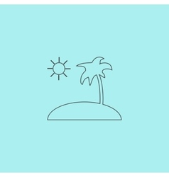 Island and palm icon vector image vector image