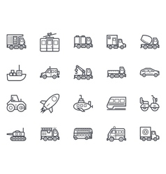 Transport Icons 2 vector image vector image