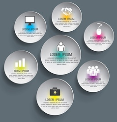 3d circle can be used for workflow layout diagram vector image vector image