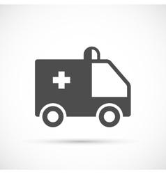 Ambulance simple icon vector image