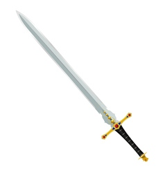 an ancient sword vector image vector image
