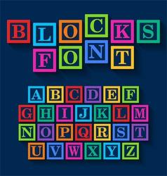 Learning Blocks alphabet vector image