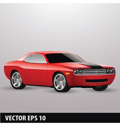 red american car vector image vector image