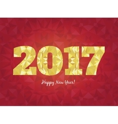 2017 happy new year background with golden vector