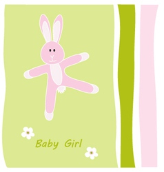 baby girl greeting card vector image vector image