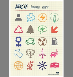Ecology and nature web icons set vector image