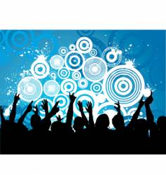 grunge audience vector image vector image