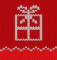 Knitting gift vector image