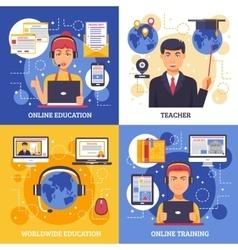 Online Education Training Design Concept vector image vector image