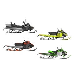 Set or snowmobiles Transport for extreme vector image vector image