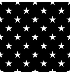 Stars seamless pattern small white vector image vector image