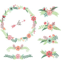 Wedding Flower Elements vector image vector image