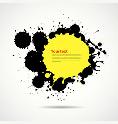 Yellow and black ink add text your space vector image vector image