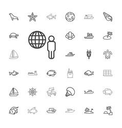 33 ocean icons vector