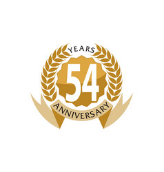 54 years ribbon anniversary vector image
