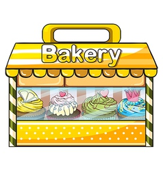 A bakery stall vector image