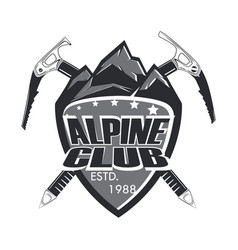 Alpine club badge vector