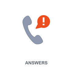 answers icon premium two colors style design from vector image