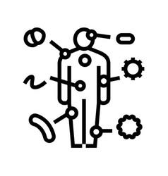 Autoimmune disease line icon vector