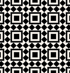 Black and white square abstract retro pattern vector image