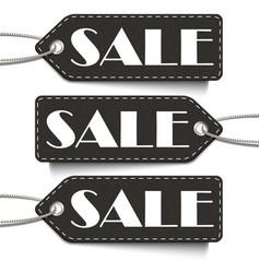 black sale tags set tags sale isolated vector image