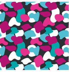 blue and pink camouflage masking pattern vector image