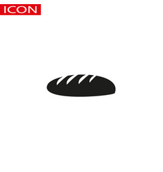 bread icon on the white vector image
