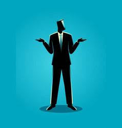 Businessman shrugging shoulders vector
