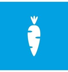 Carrot icon white vector