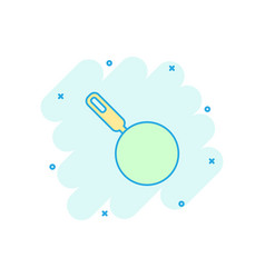 cartoon frying pan icon in comic style cooking vector image