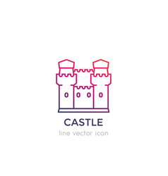 castle fortress linear icon vector image