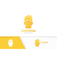 chef hat and real estate logo combination vector image