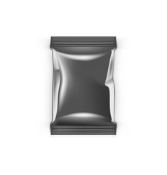 Clean foil aluminium packing isolated on white vector