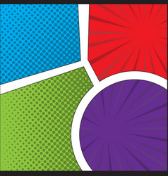 colored comic page vector image