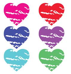 Colorful love icon vector