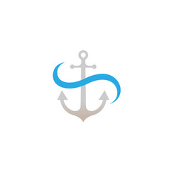 creative anchor logo vector image
