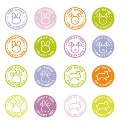 cruelty free - not tested on animals sign icon vector image