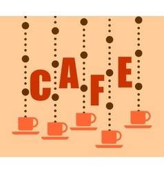 Cup of coffee or tea symbol vector image