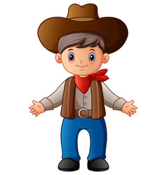 Cute cartoon cowboy vector
