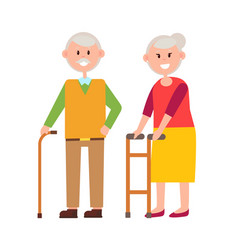 cute grandparents picture vector image