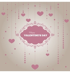 Cute hearts pattern with a frame vector image