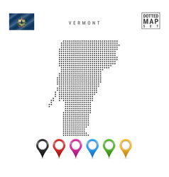Dots pattern map vermont stylized silhouette vector