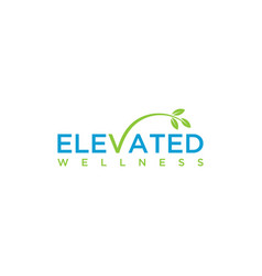 elevated logo vector image