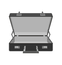 empty empty suitcase travel case vector image