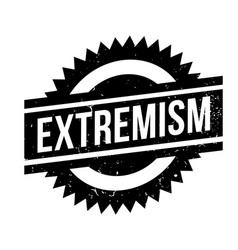 Extremism rubber stamp vector