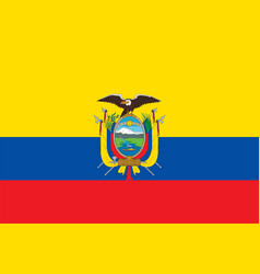 flag of ecuador in official rate and colors vector image