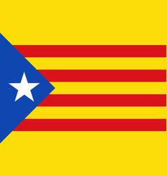 Flag of estelada blue catalonia of spain vector
